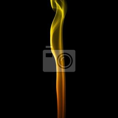 Plakat Streszczenie fali symulacji pożaru