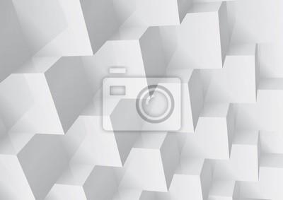 Plakat Streszczenie geometryczne tło kostki ułożone, zmiany kolorów