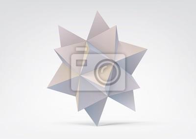 Streszczenie geometryczny kształt z piramid
