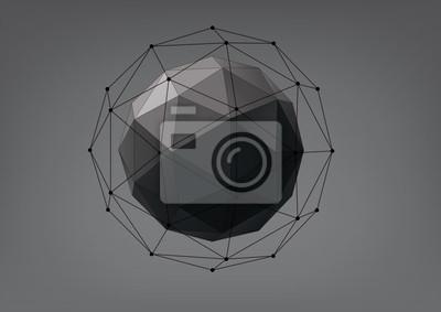 Streszczenie geometryczny kształt z trójkątnych twarzach