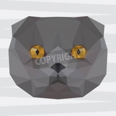 Plakat Streszczenie Geometryczny Trójkąt Poligonalny Szare Kot