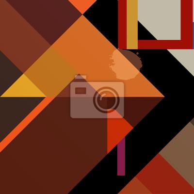 Plakat streszczenie kolorowe tło geometrycznych, z placu, trinangle
