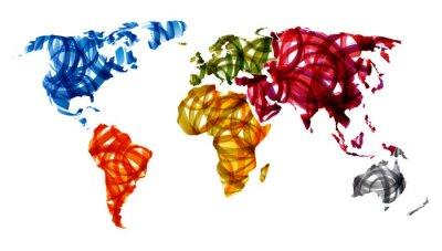 Plakat streszczenie mapa świata
