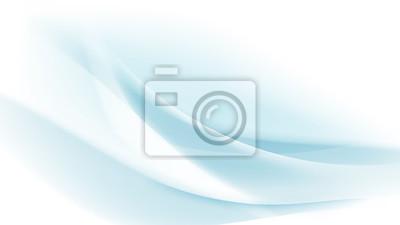 Plakat Streszczenie niebieski falisty z niewyraźne światło zakrzywione linie tła