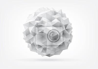 Plakat streszczenie nieładzie kuli trójkątne twarze do projektowania graficznego
