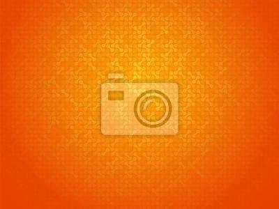 Plakat Streszczenie pomarańczowym tle łączące kropki