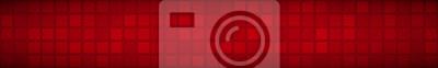 Plakat Streszczenie poziomy baner lub tło dużych kwadratów lub pikseli w czerwonych kolorach.