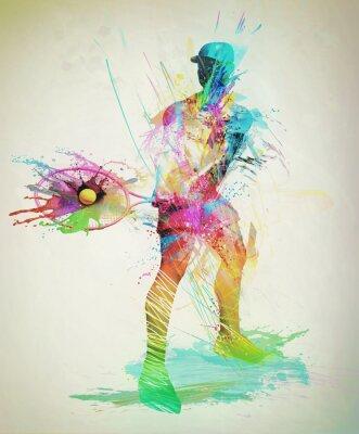 Plakat Streszczenie tenisista