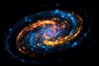 Plakat Streszczenie tle galaktyki