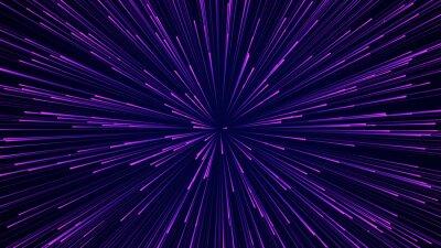 Plakat Streszczenie tło prędkości obrotowej. Wzór linii dynamicznych Starburst. Tło przepływu danych streszczenie. Renderowanie 3D.