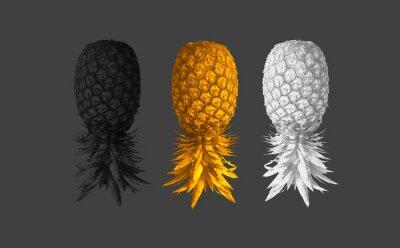 Plakat Streszczenie tło z ananasem