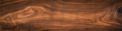 Plakat Struktura drewna orzechowego. Super długi orzech deski tekstury background.Texture elementu