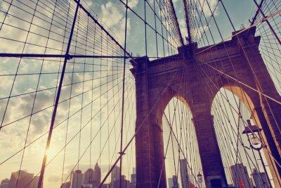 Plakat Strukturalna szczegół Brooklyn Bridge