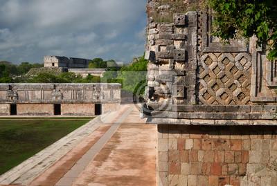 Plakat Struktury w mieście Majów Uxmal na Jukatanie