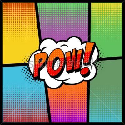 Plakat Styl pop artu w stylu komiksu. Ilustracji wektorowych, efekty dźwiękowe POW!