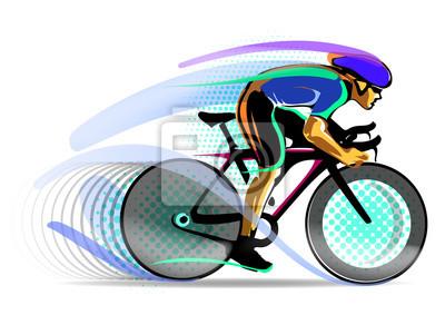stylizowane rowerzysta ruchu