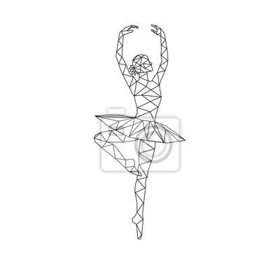 Stylizowany trójkątny trójkątny model Ballerina