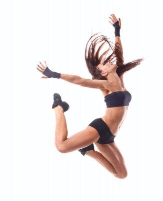 Plakat Stylowy i młodych nowoczesny styl tancerka skoków