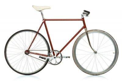 Plakat Stylowy rower hipster samodzielnie na białym tle