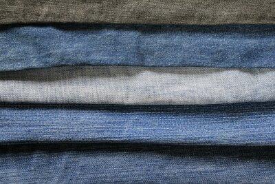 stylowy teksturowanej tle z poziomej paski denim w różnych odcieniach