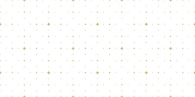 Plakat Subtle golden vector seamless pattern with small diamond shapes, stars, rhombuses, dots. Simple wide geometric background. Abstract minimal white and gold texture. Luxury repeat design for decor, wrap