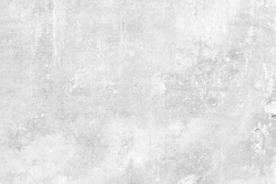 Plakat Subtle white washed wall texture background. Cool light soft grey pattern of concrete or cement surface. Abstract template for print or design.