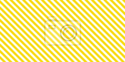 Plakat Summer background stripe pattern seamless yellow and white.
