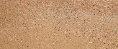 Plakat Summer day beach sand texture. Top view, flat lay. Banner