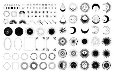 Plakat Sun, Moon, Stars Symbol. Astrology Theme. Stock Vector
