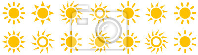 Plakat Sun simple icons collection. Vector illustration