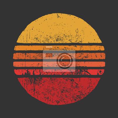 Plakat SUN Vintage Circle IllustrationsBasic RGB