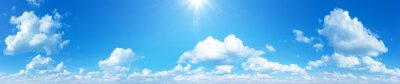 Plakat sunny sky background whith clouds