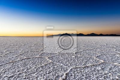Plakat Sunrise w Salar de Uyuni w Boliwii