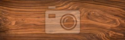 Plakat Super długi orzech włoski deski tekstury tło