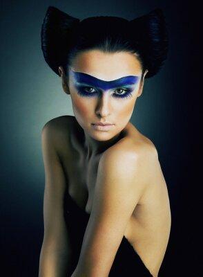 Plakat Supermodelka Fashion w jasnym makijażu