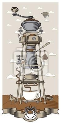 Plakat surrealistyczne coffee plant