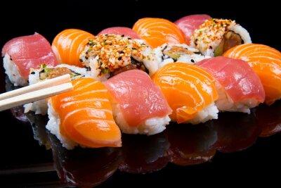 Plakat sushi and rolls