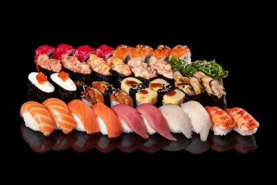 Plakat sushi i sashimi