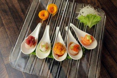 Plakat sushi su vassoio w Vetro