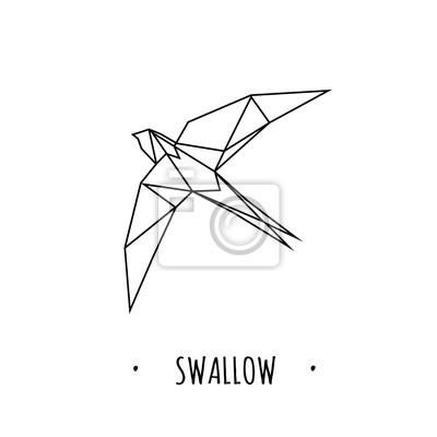 Swallow stylizowane trójkąta wielobocznego modelu