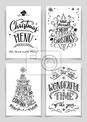 świąteczne Kartki Z życzeniami Bundle Pojedyncze Czarne Na Białym Plakaty Redro