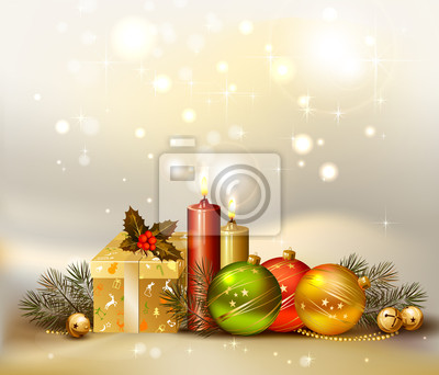 Plakat światło Boże Narodzenie