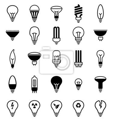 Światło żarówki ikony - Illustration.Vector Ilustracja ikony lampy.