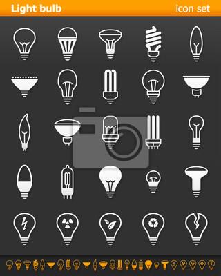 Światło żarówki ikony - Illustration.Vector Ilustracja ikony lampy na ciemnym tle.