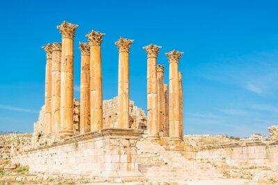 Plakat Świątynia Artemidy jest rzymska świątynia w Jerash, Jordania
