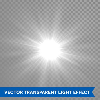 Plakat Świeci i świecące efekt świetlny słoneczny. Gwiazda Eksplozja wybuch