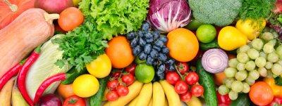 Plakat świeże owoce i warzywa