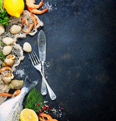 Plakat Świeże owoce morza