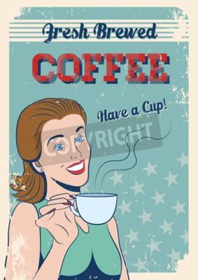Plakat świeże parzonej kawy plakat