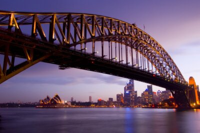 Plakat Sydney o zmierzchu